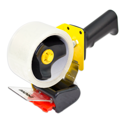 Packaging tape dispenser for professional use
