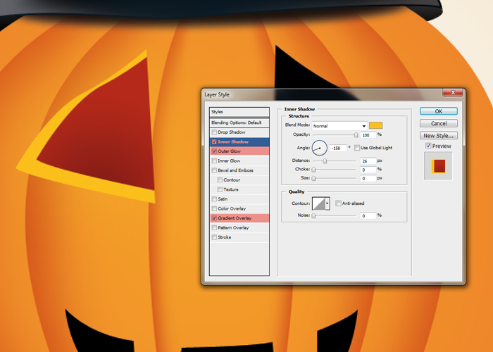 Photoshop Tutorial Halloween Karte Step 17