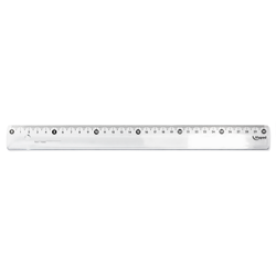 Plastic ruler 30cm transparent